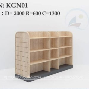 Kệ sách giữa nhà KGN01