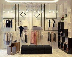 Thiết kế shop giày dép 15m2