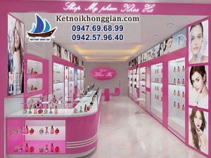Thiết kế shop mỹ phẩm 22m2