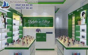 Thiết kế shop mỹ phẩm Hàn Quốc