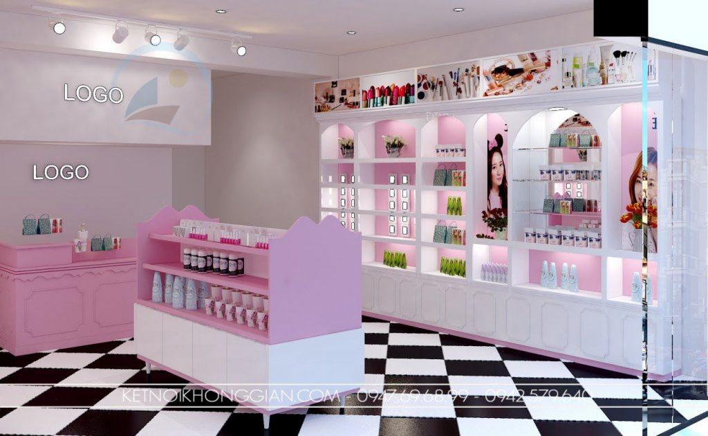 shop mỹ phẩm màu hồng