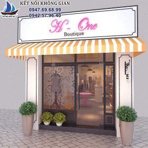 Thiết kế cửa hàng thời trang nữ 70m2