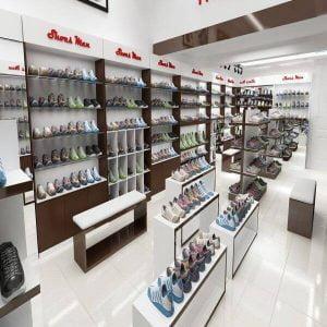 thiết kế shop giày dép đơn giản