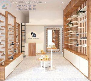 Thiết kế shop giày dép 22m2